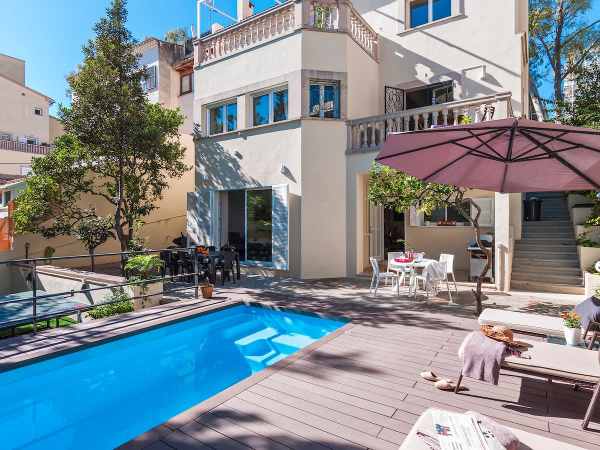 15 Residents | Son Armadams - Palma | Beach Relaxed House - Incl. Coworking + Pool