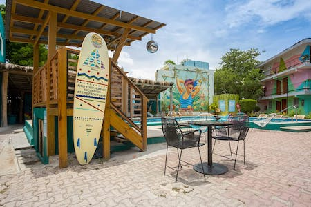 Colorful Stylish Residence w/ Coworking + Pool