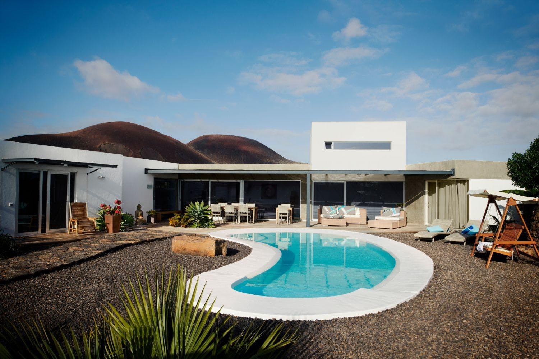 14 Residents   Lajares   Luxury Complex Overlooking Volcano w/ Pool + Yoga Deck