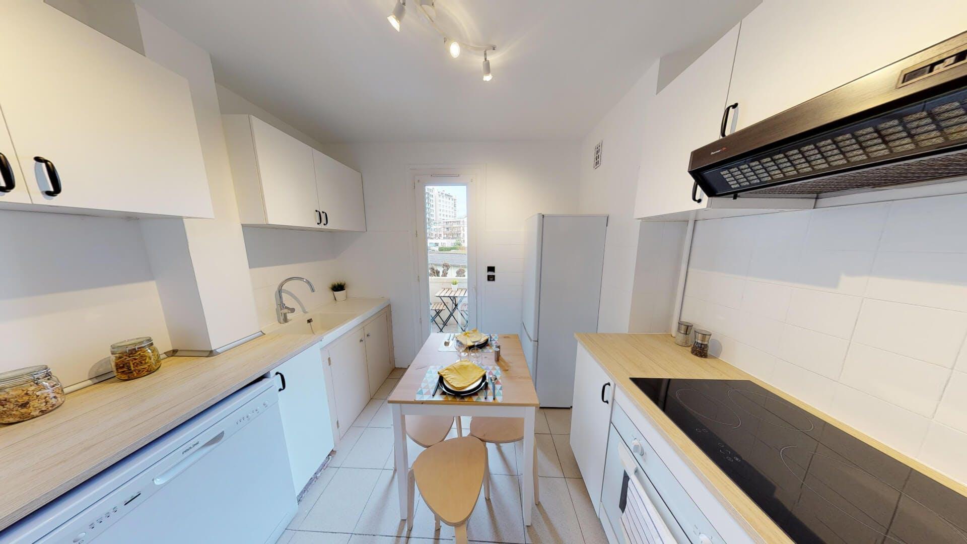 4 Residents   Compans   Modern Styled Apt. w/ Terrace + Workspace