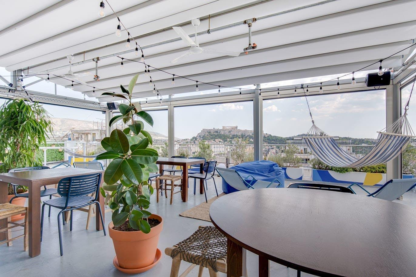 47 Residents   Psyri   Stylish Designed Complex w/ Rooftop Bar + Coworking