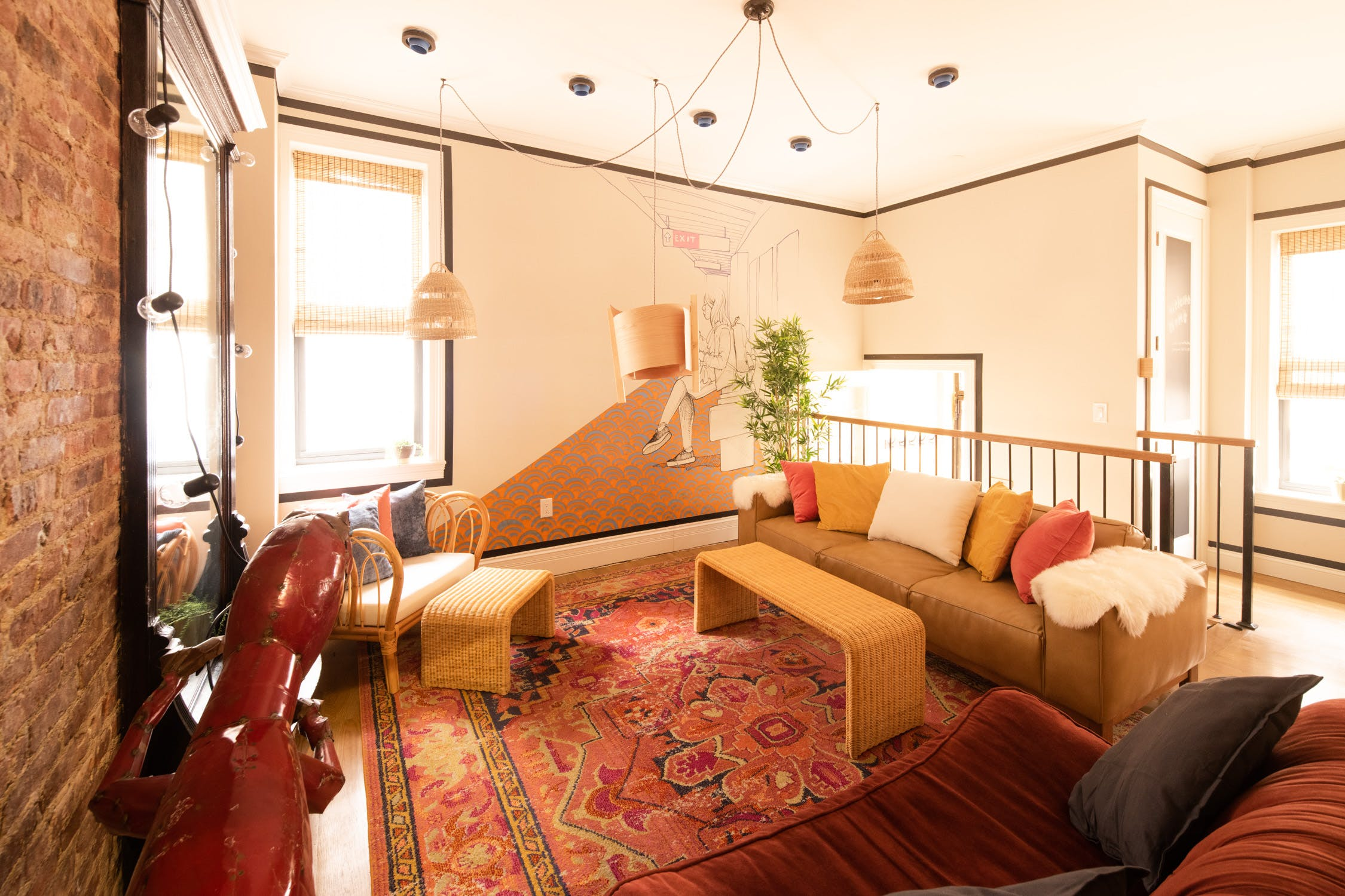 7 Residents | Crown Heights | Spacious Well-Lit House w/ Terrace + Movie Room + Gym